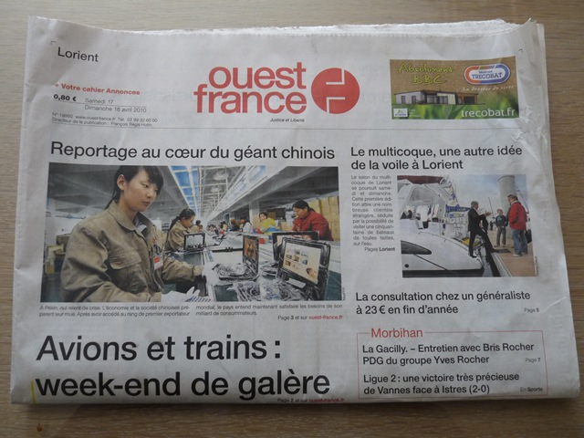 Ouest france journal de droite le blog de jean de pont scorff - Ouest france le journal gratuit ...