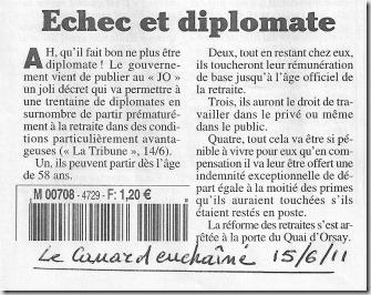 Retraite des diplomates