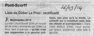 Rectificatif M. Le Priol