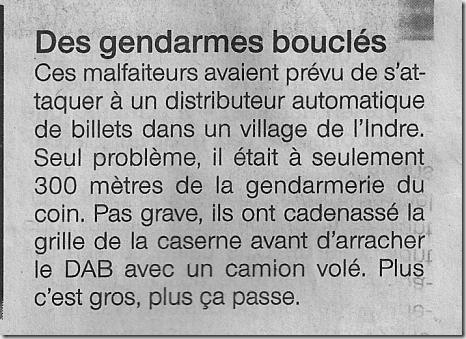 Gendarmes bouclés