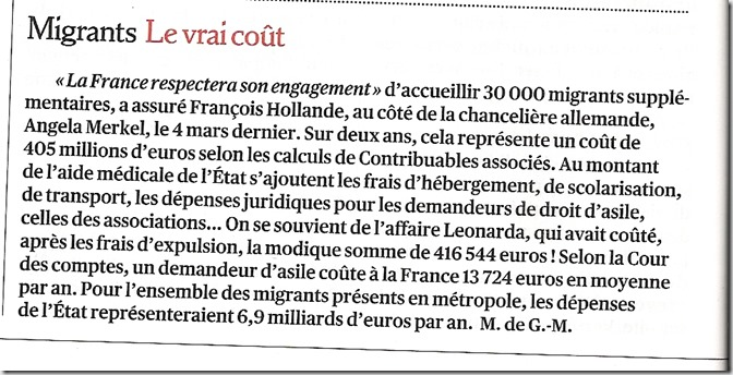 cout migrants