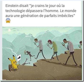 Einstein et le pokémon go