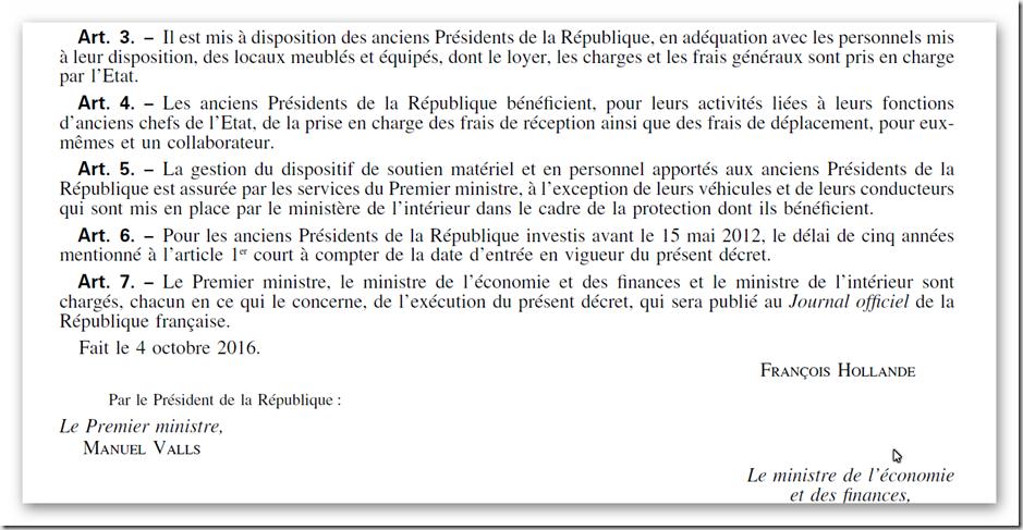 Decret President de la république 2