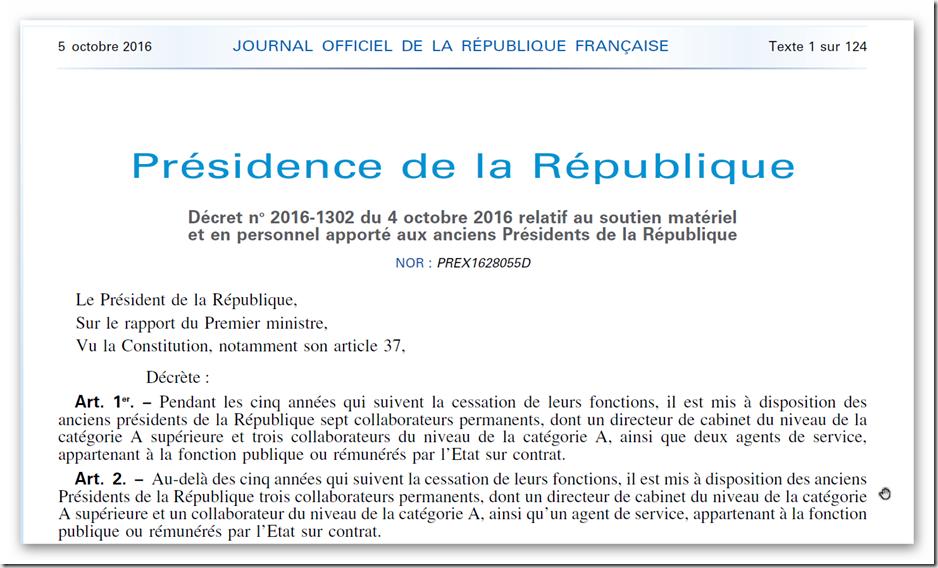Decret President de la République